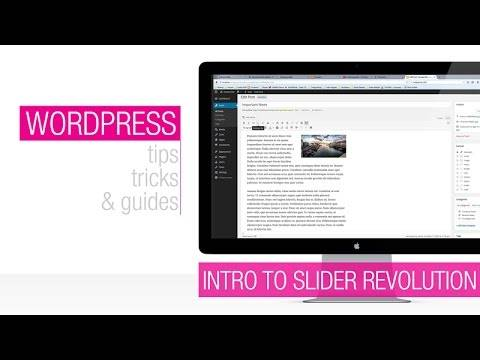 Introduction to Slider Revolution WordPress Plugin