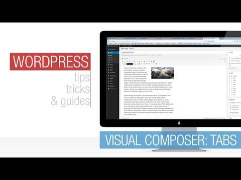 Read more about the article WordPress Tutorial: Visual Composer – Tabs