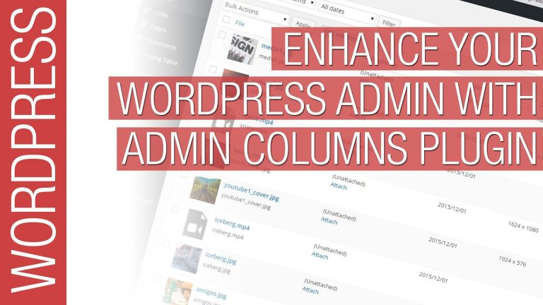 Read more about the article Customize your WordPress Admin with Admin Columns Plugin