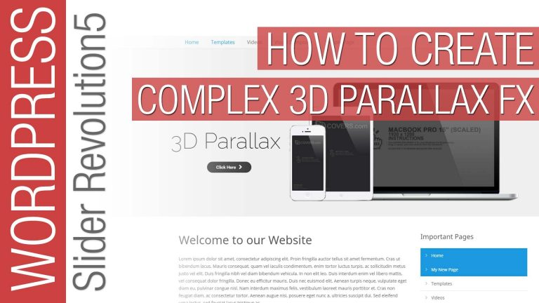 How To Create Complex Parallax in Slider Revolution 5