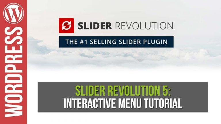 Slider Revolution: How to Create an Interactive Slider & Menu