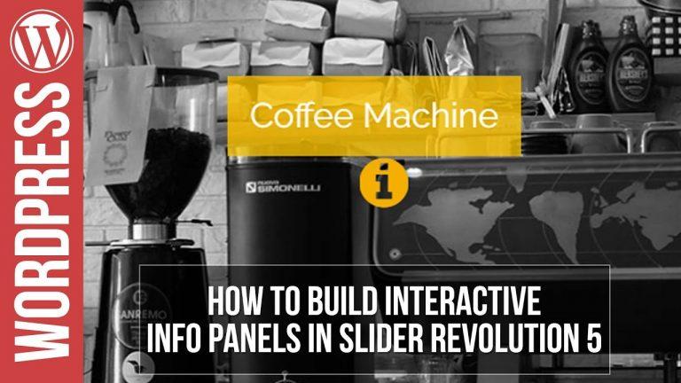 Slider Revolution 5 tutorial: Interactive Information Slider Tutorial