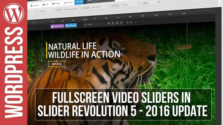 Full Screen Video Sliders in Slider Revolution 5