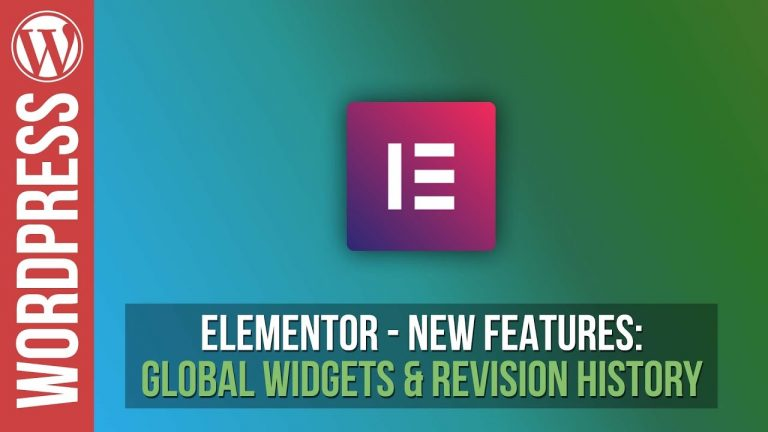 Read more about the article Elementor: Revision History & Global Widgets