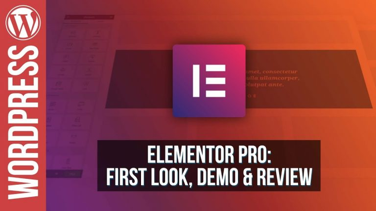 Read more about the article Elementor Pro for WordPress – Review & Demo