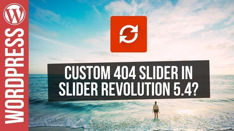 Custom 404 Slider with Slider Revolution 5.4