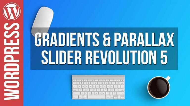 Gradients & Parallax Sliders in Slider Revolution 5 – Tutorial