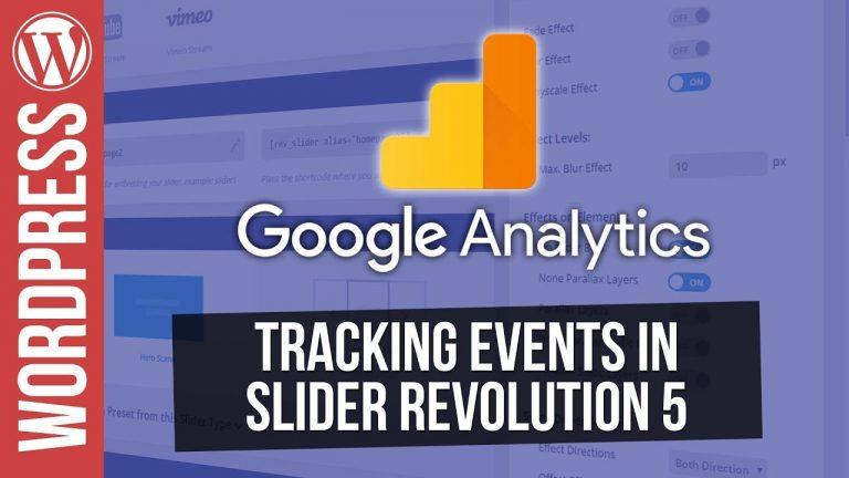 Use Google Analytics to track Events in Slider Revolution 5