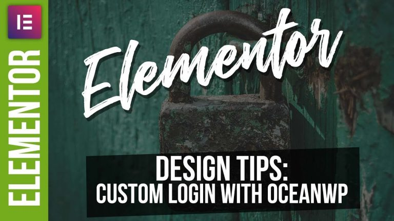 Custom Login Pages with Elementor Pro & OceanWP