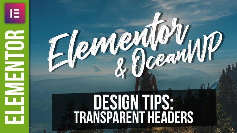 Transparent Headers in WordPress with Elementor & OceanWP