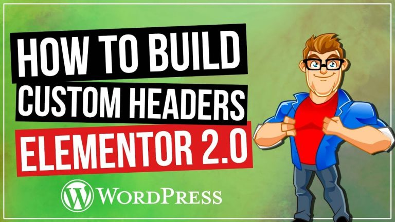 Read more about the article Custom Headers in WordPress with Elementor 2.0