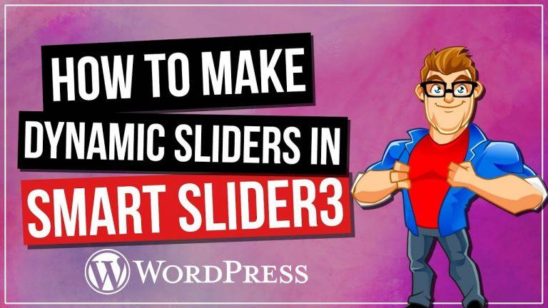 Smart Slider 3 Dynamic Sliders Tutorial