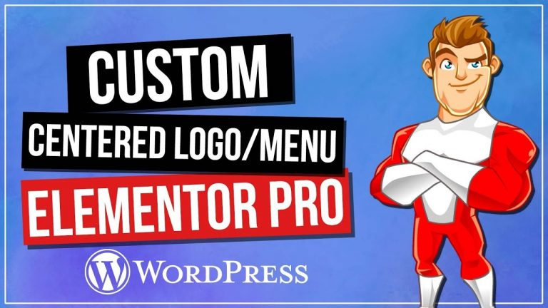 Elementor Pro: Centered Logo & Navigation Tutorial