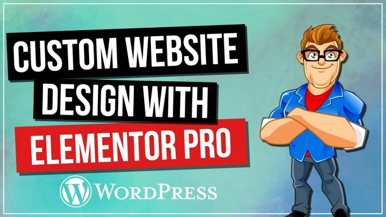 Custom Website Design with Elementor Pro for WordPress
