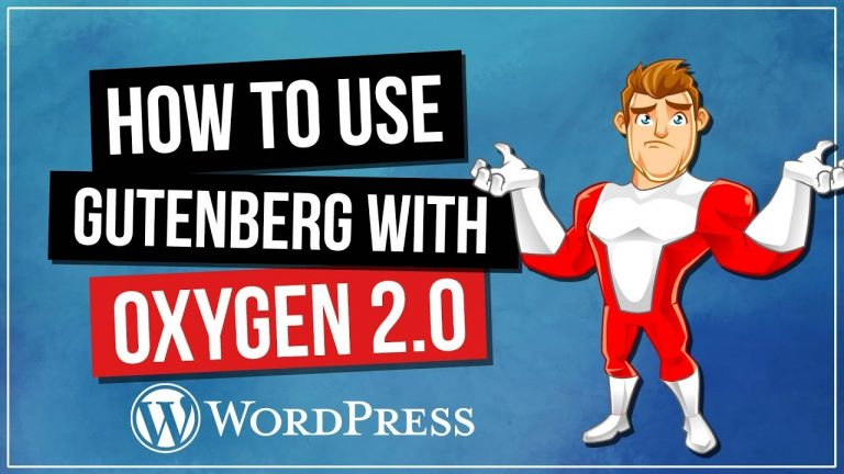 Read more about the article How to Use Gutenberg with Oxygen 2 for WordPress
