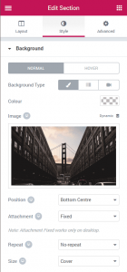 Responsive Backgrounds in Elementor