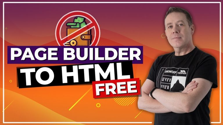 No Money? No Excuse! Page Builder to HTML for FREE