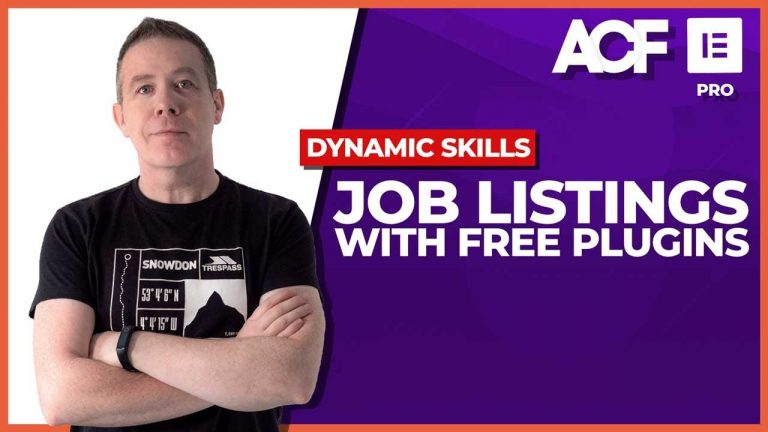 Elementor Pro + FREE plugins = Custom Job Listings (ACF & more)