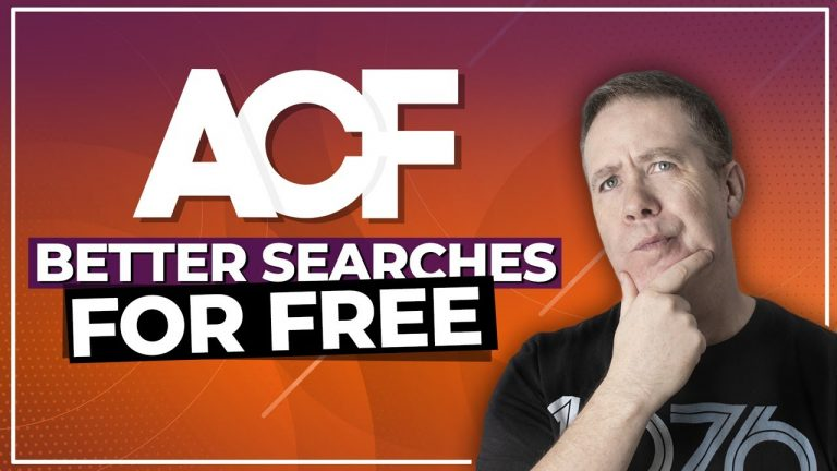 ACF Better Search Plugin – Search Your Custom Meta Fields for Free