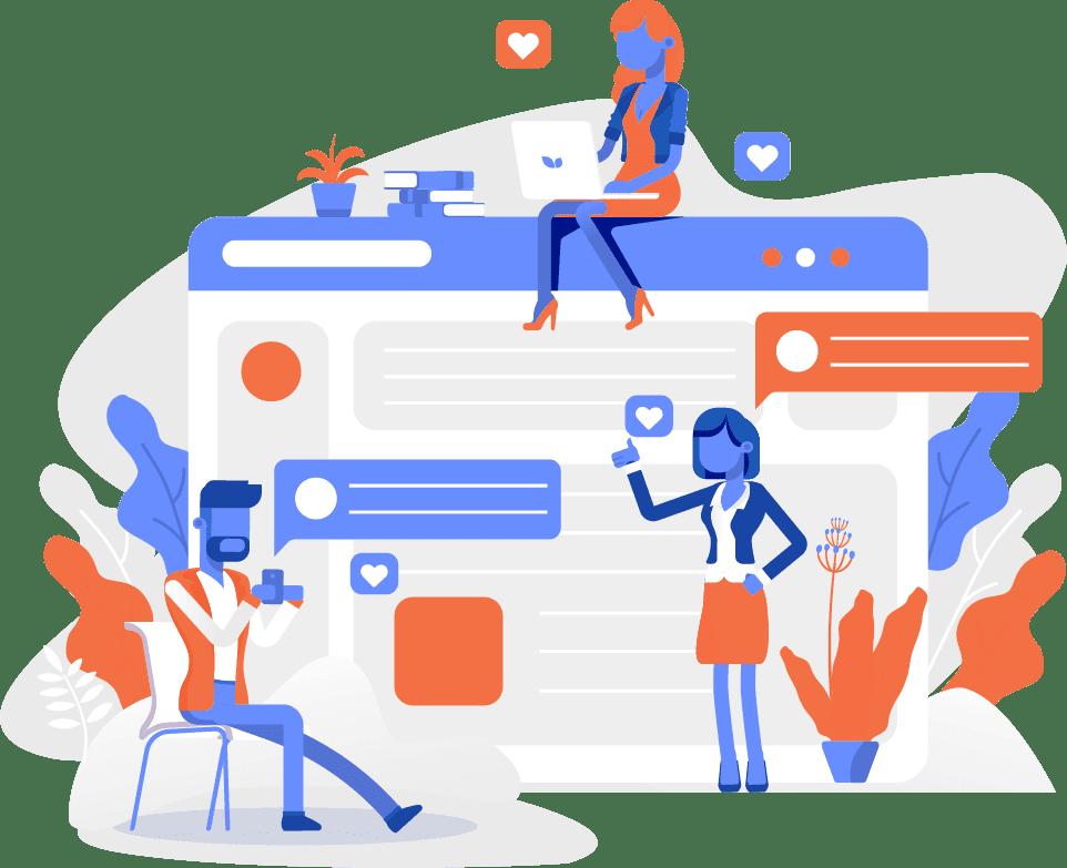 WordPress Web Design Illustration