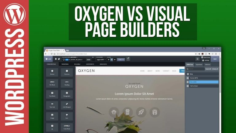 Oxygen for WordPress vs Visual Page Builders