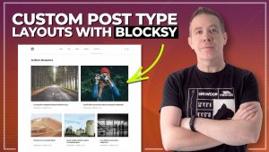 Easy Custom Post Type Design With Blocksy FREE WordPress Theme (CPT)