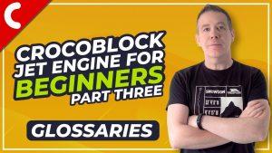 Crocoblock Jet Engine Tutorial – Glossaries – Beginners Guide Part 3